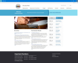 City of Decatur's SharePoint Home Page