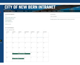 City of New Bern's SharePoint Home Page
