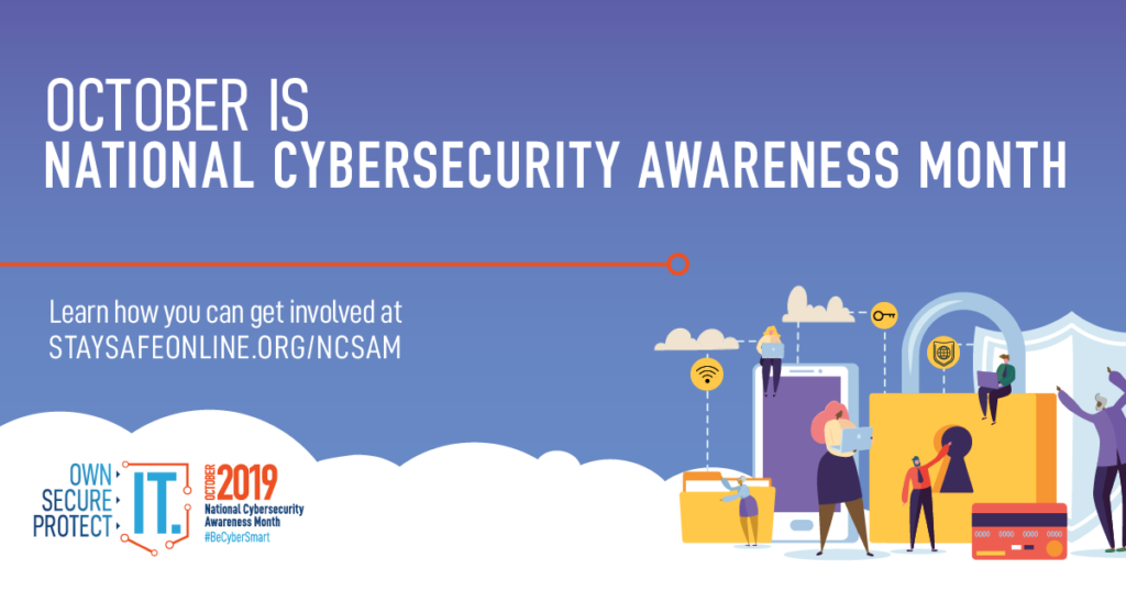 National cybersecurity awareness month graphic