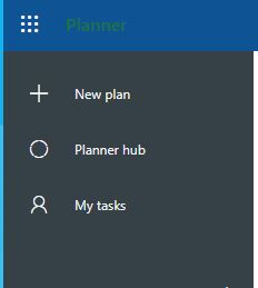 Screenshot of Microsoft Planner showing how to start a new plan